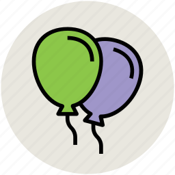 balloons, birthday balloons, event, party, party decoration icon