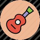 guitar, music, music instrument, music playing, string equipment icon