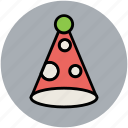 birthday, birthday hat, celebration, cone cap, party caps, party decoration, party hat icon