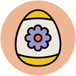 decorated egg, easter, easter decorations, easter egg, paschal egg icon