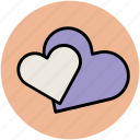 affection, favorite, hearts, like, love, passion icon