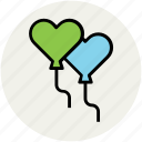 balloons, birthday balloons, event, hearts balloon, party, party decoration icon