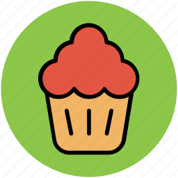 bakery food, confectionery, cupcake, fairy cake, muffin icon