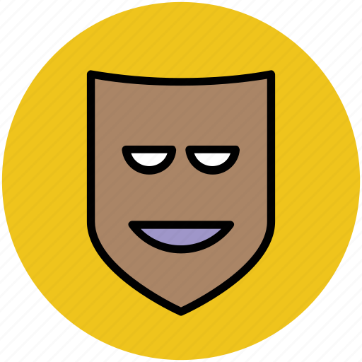 face mask, mask, party mask, theater mask icon