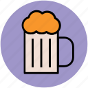 ale, beer, beer mug, beverage, chilled beer, drink, party icon