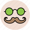 face mask, glasses, hipster, hipster mask, moustache icon