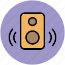 music, music playing, sound bass, speakers, stereo, woofer icon