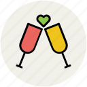 beverage, champagne, cheers, drink, party, toasting, wine glass icon