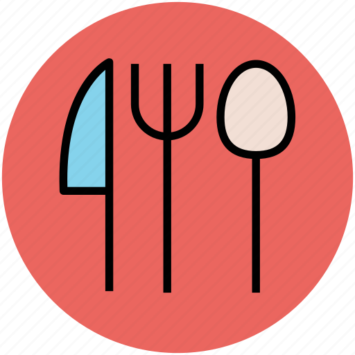 dining, eating, flatware, fork, knife, spoon, utensil icon