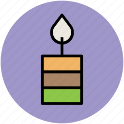 burning candle, candle, church candle, light, party decorations icon
