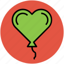 balloon, birthday balloon, event, heart balloon, party, party decoration icon