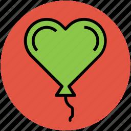 balloon, birthday balloon, event, heart balloon, party, party decoration icon