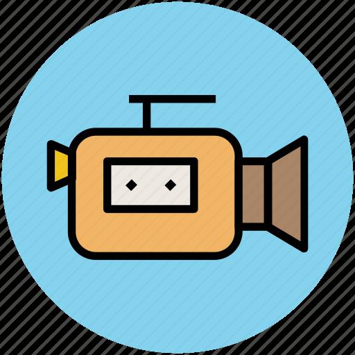 cinema, film camera, filming, video camera, video recording icon