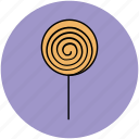 candy stick, dessert, lollipop, lolly, sweet, swirl lollipop icon