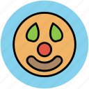 face, happy smiley, jester face, joker avatar, joker face icon