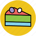 bakery food, cake, cake piece, dessert, sweet icon
