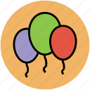 balloon, birthday balloon, event, party, party balloons, party decoration icon