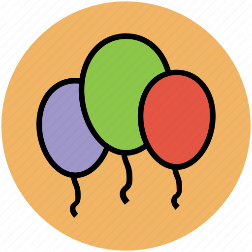 balloon, birthday balloon, event, party, party balloons, party decoration icon