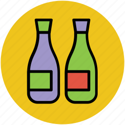 alcohol bottle, beverage, bottles, wine, wine bottles icon
