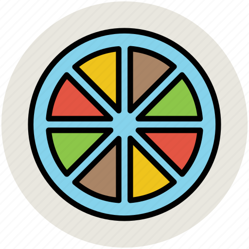 citrus, diet, food, fruit, lemon slice, orange slice icon