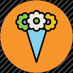 bouquet, flower bouquet, flower vase, flowers, wedding bouquet icon