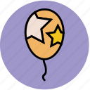 balloon, birthday balloon, event, party, party balloon, party decoration icon
