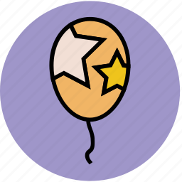 balloon, birthday balloon, event, party, party balloon, party decoration icon