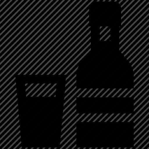 alcohol, alcoholic drink, beer bottle, bottle, glass, wine, wine bottle icon