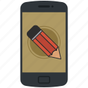 application, edit, format, pen, pencil, telephone, write icon icon