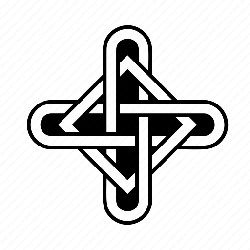 celtic, cross, knot icon