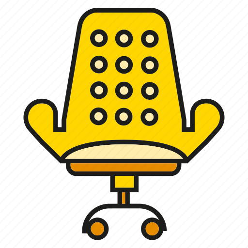 chair, decor, furniture, interior, office chair, seat, sofa icon