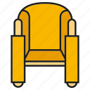 chair, couch, decor, furniture, interior, seat, sofa icon