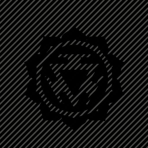 chakra, full, manipura, plexus, solar icon