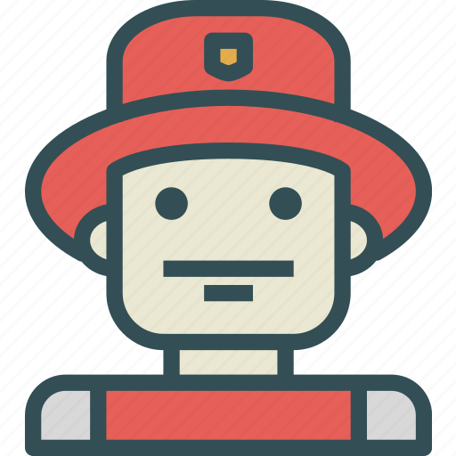 avatar, character, firemen, profile, smileface icon