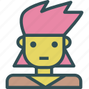 avatar, character, hipgirl, profile, smileface icon