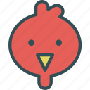 avatar, bird, character, chicken, profile, smileface icon