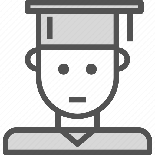 avatar, character, college, profile, smileface icon