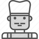 avatar, character, chef, profile, smileface icon
