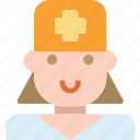dentistfemale, profile, character, avatar, smileface icon
