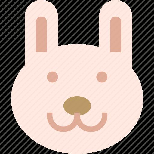 animal, avatar, bunny, character, profile, smileface icon