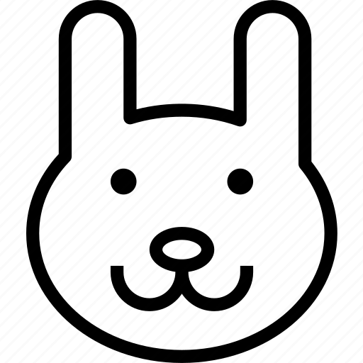 animal, avatar, bunny, character, profile, smileface icon