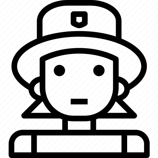 avatar, character, firewomen, profile, smileface icon
