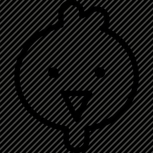 avatar, bird, character, chicken, profile, smileface icon