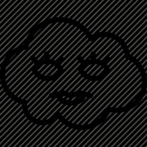 avatar, character, eyeleash, profile, smileface icon