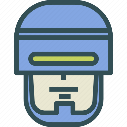 avatar, character, profile, robocop, smileface icon