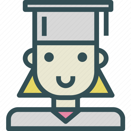 avatar, character, profile, smileface, student icon