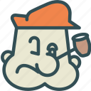 avatar, character, popeye, profile, smileface icon