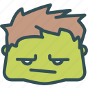 avatar, character, hulk, marvel, profile, smileface, superhero icon
