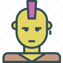avatar, character, profile, rocker, smileface icon