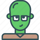 avatar, character, profile, smart, smileface icon